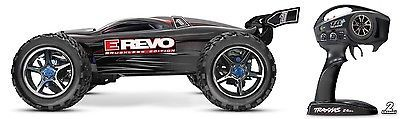 ﹩529.95. Traxxas 560864 1/10 E-Revo Brushless TQi 2.4GHz RTR w/ TSM TRA560864T2 BLACK HH    Type - Trucks, Fuel Source - Electric, State of Assembly - Ready-to-Go, Scale - 1:10, Gender - Boys  Girls, Vehicle Type - RC Truck, Car Type - Off-Road, Fuel Type - Electric, Product Line - Revo, Color - Black, Required Assembly - Almost Ready/ARR/ARF (Accs required), Recommended Surface - Off-Road  On-Road, Motor Type - Brushless, 4WD/2WD - 4WD, UPC - 0020334564832