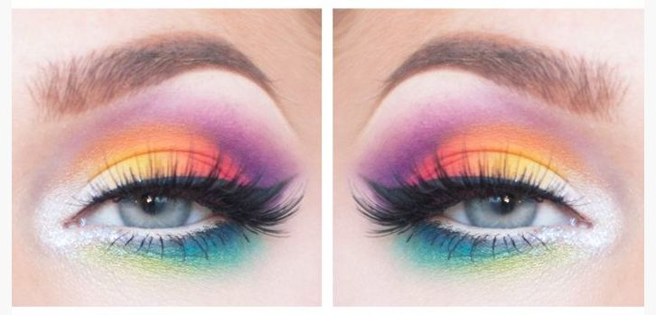 Rainbow eye make up for Brighton Pride