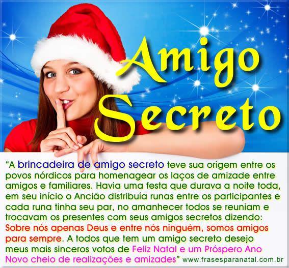 mensagem para amigo secreto, mensagem para amigo oculto, a origem do amigo secreto