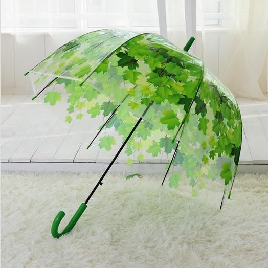 Paraguas Transparente con hojas AliExpress