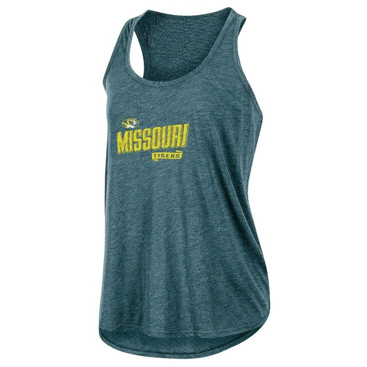NCAA Women's Gameday Heathered Racerbank Soft Touch Poly Tank Top Missouri Tigers - XL, Multicolored