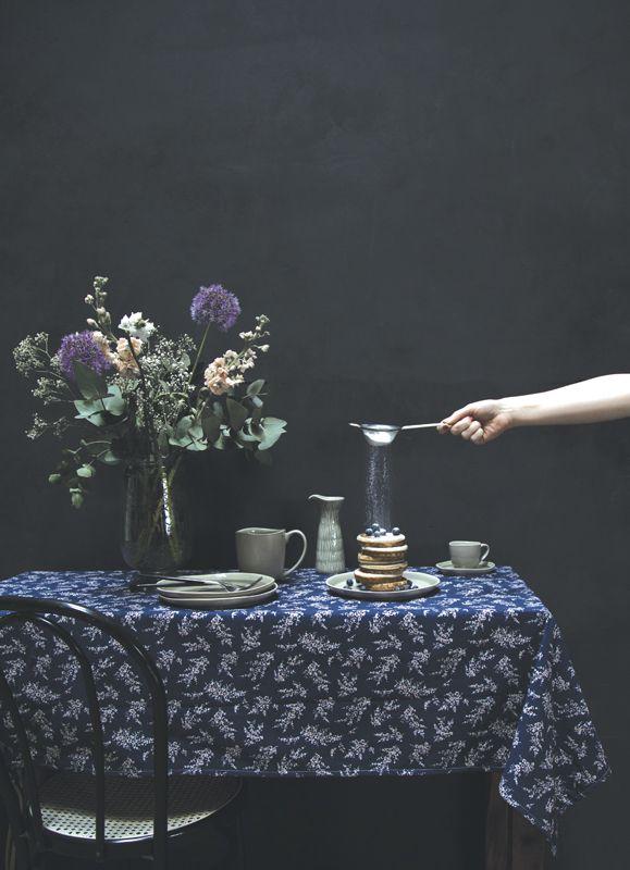 A.U Maison AW17. #aumaison #interior #homedecor #styling #danishdesign #kitchen #tableware #tablecloth #scandinavian #flowerarrangement #pancakes #food #tablesetting #tablearrangement