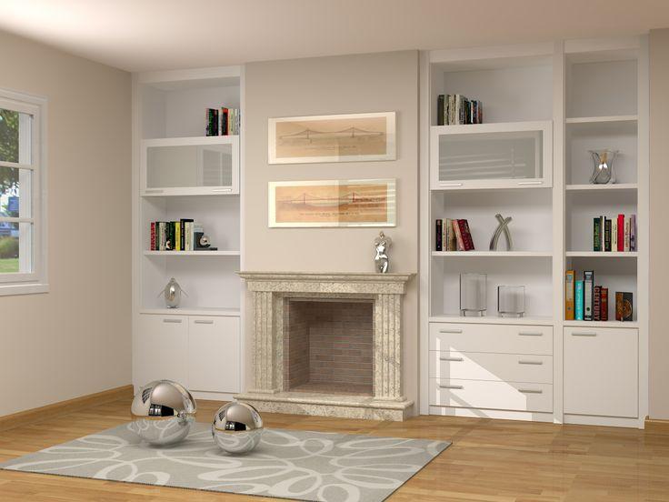 Mejores 11 im genes de muebles adaptados a chimenea en for Salones con chimeneas electricas