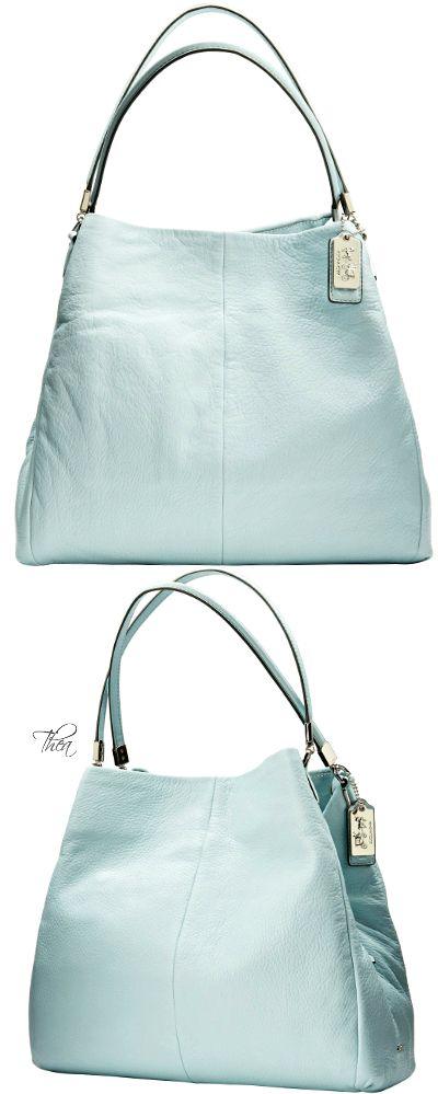 Coach ~  Madison Phoebe Shoulder Bag, Soft Aqua 2015