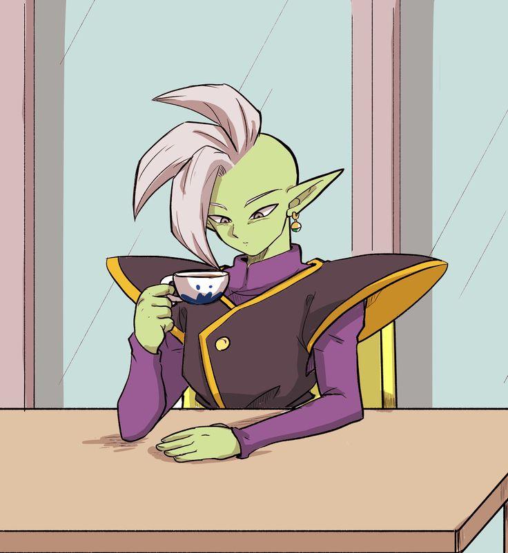 Zamasu drinking tea