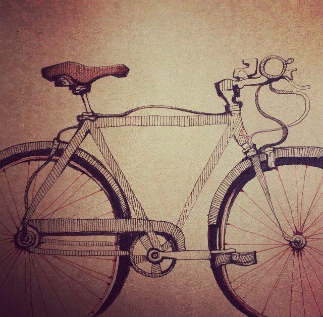 LA VENTE. Dessin de vélo Original de moitié prix par Andrea Joseph. par AndreaJoseph sur Etsy https://www.etsy.com/ca-fr/listing/509539688/la-vente-dessin-de-velo-original-de