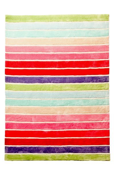 All the colours of the rainbow in the Lucy stripe rug from Patersonrose #patersonrose #girlsrooms #girlsbedroomdecor #kidsaccessories #kidsdecor #childrensbedrooms #childrensinteriors #rugs #kidsrugs