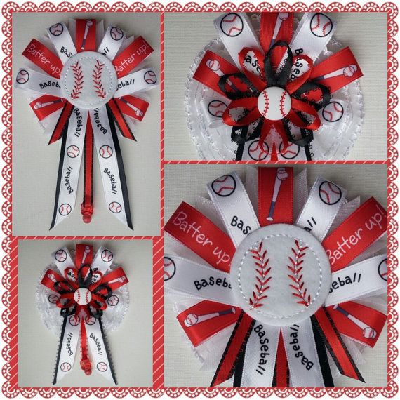baseball theme mommy baby shower corsage set