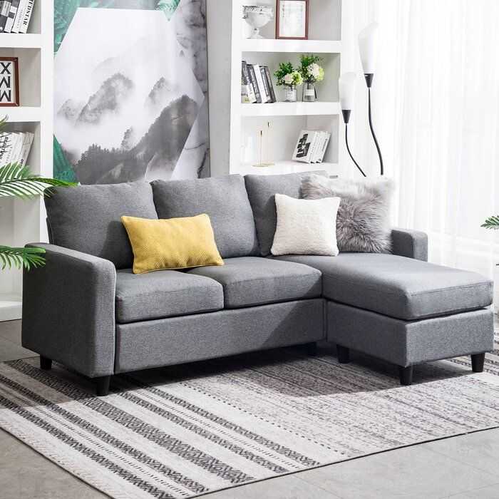 Sylvette 78 5 Reversible Sofa Chaise With Ottoman In 2020