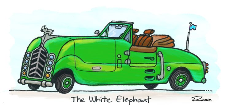 by Russell James - cardoodle - the White Elephant