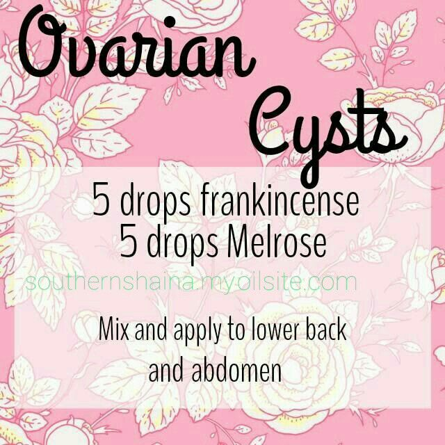 Ovarian Cyst relief with Young Living.