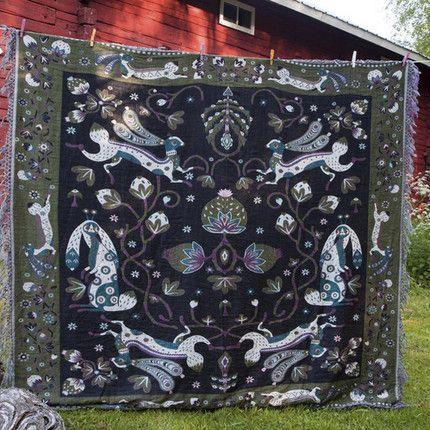Klaus Haapniemi  Tiphaine-illustration #finnishdesign #scarf #folklore
