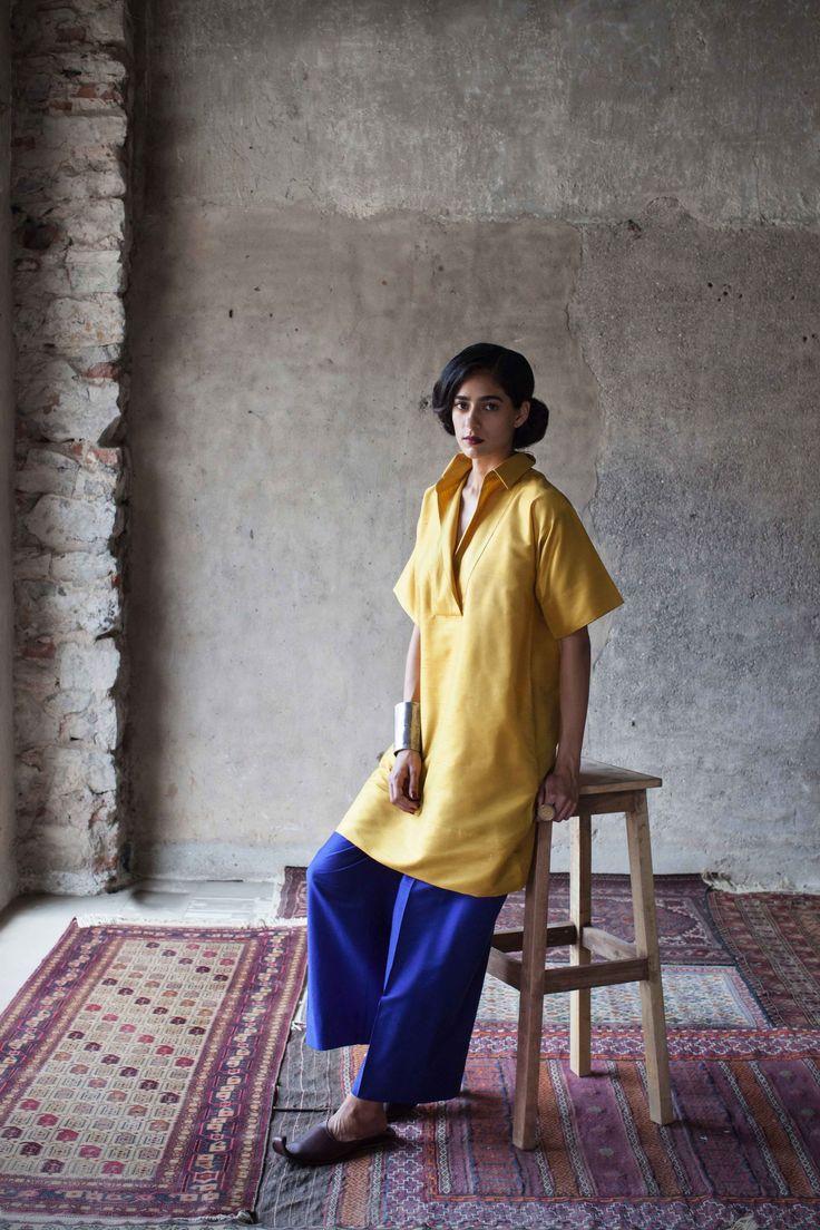 payalkhandwala - AW/2015 - Polyester Tunic and Polyester Lounge Pant
