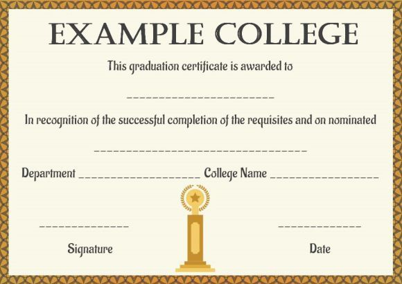 Blank College Degree Template In 2021 Degree Certificate College Degree Certificate Templates