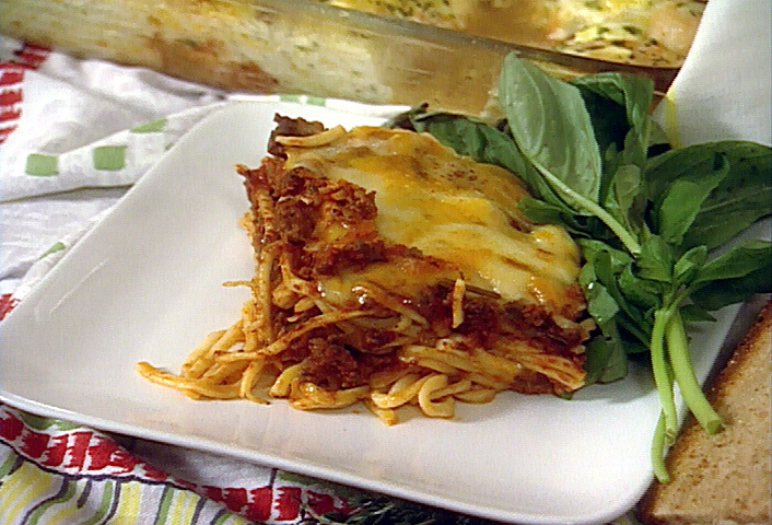 Food Network invites you to try this Baked Spaghetti recipe from Paula Deen.: Food Recipes, Recipes Casseroles, Deen S Baked, Baked Spaghetti Recipes, Dinners, Baked Spaghetti My, Baked Spaghetti A, Paula Deen S