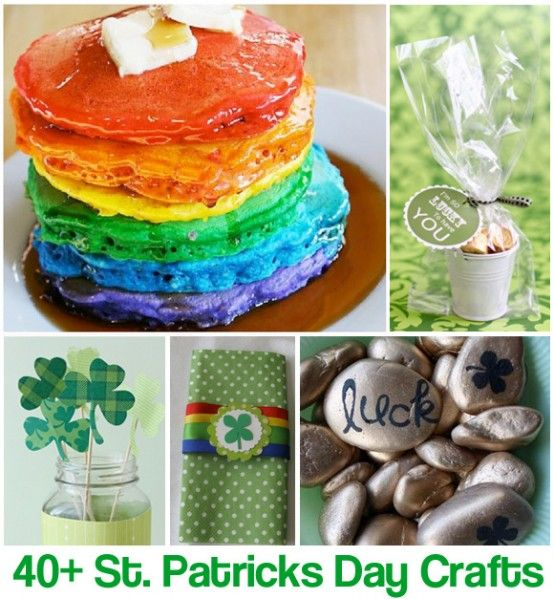 Love the pancakes! (40 Crafts for St. Patrick's Day)