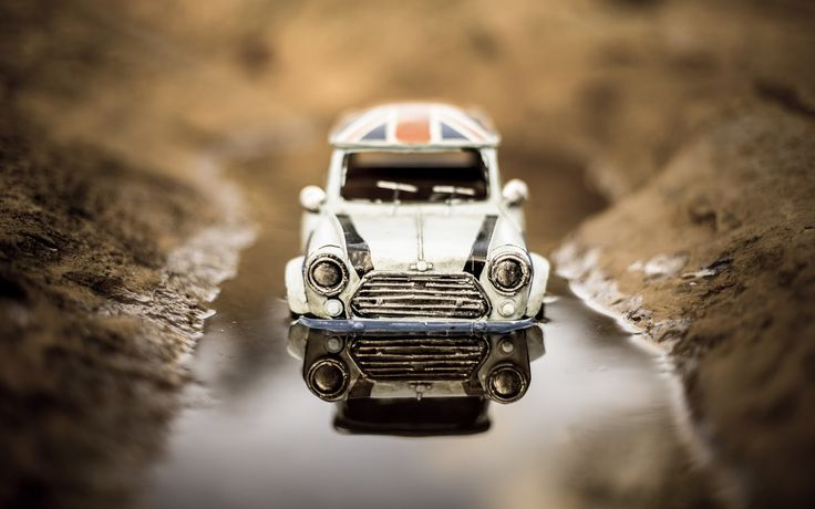 mini cooper toy uk flag