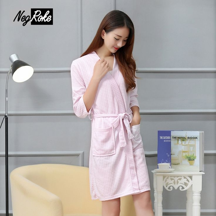 Hot Sale Summer Waffle polyester women robes couples Long sleeve casual bathrobes for women SPA bath robe dressing gown #Affiliate