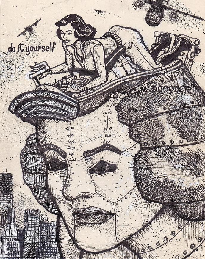 10 best do it yourself doodler images on pinterest pinup girl when artist david jablow came across a doodle pad he was a bit shocked at what he found the drawings inside were of suggestively po solutioingenieria Image collections