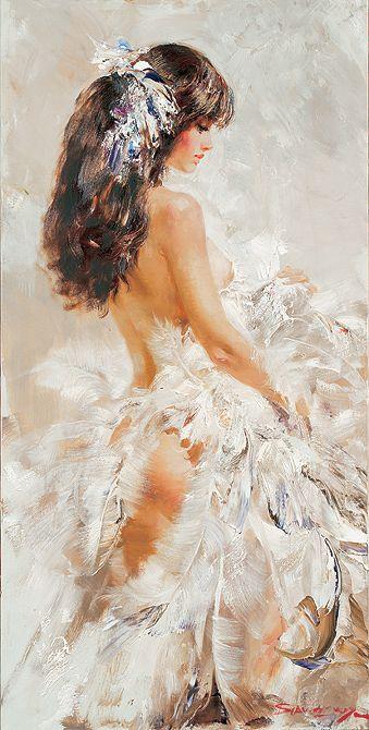 Ivan Slavinsky: Ivan Slavinsky, Secret Gardens, Fairies, Beautiful Painting, Contemporary Artists, Burlesque, Angels, Feathers, Art Painting
