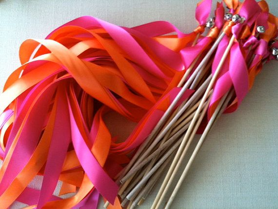 wedding wands with BELLS! Great for standing wedding guests.