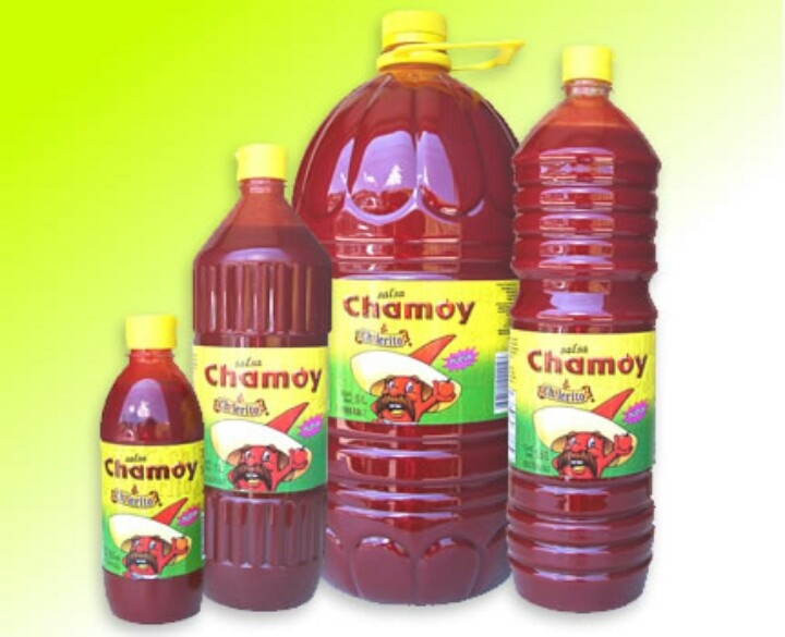 Chamoy sauce...tangy & sweet.  Add to strawberries, pineapple, mango, watermelon, cucumber, jicama, and roasted corn with a little chile powder and lime.  So YUMMY!