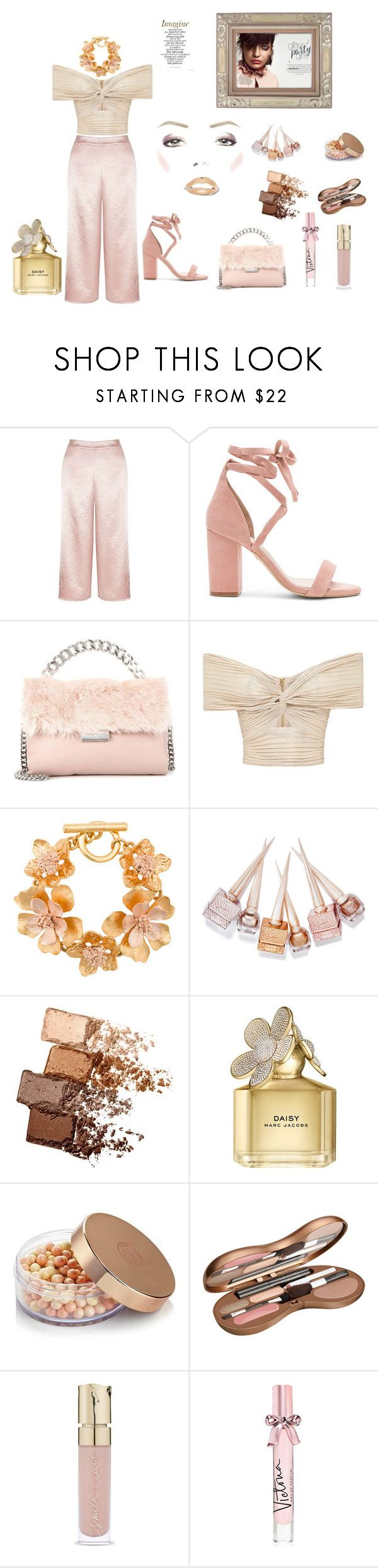 """""""JUST CALL ME SHIMMER"""" by destinystarheaven ❤ liked on Polyvore featuring Miss Selfridge, Raye, STELLA McCARTNEY, Oscar de la Renta, Christian Louboutin, Maybelline, Marc Jacobs, The Body Shop, Smith & Cult and Victoria's Secret"""