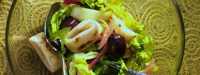 Salade de calmars grillés