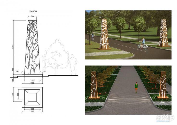 Малые архитектурные формы для парка: ландшафтный дизайн, современный стиль, городской парк, 6 соток и менее #landscapedesign #modernstyle #citypark #6acresandless
