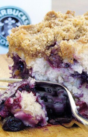 Blueberry Crumble Coffee Cake. Sooooo good!