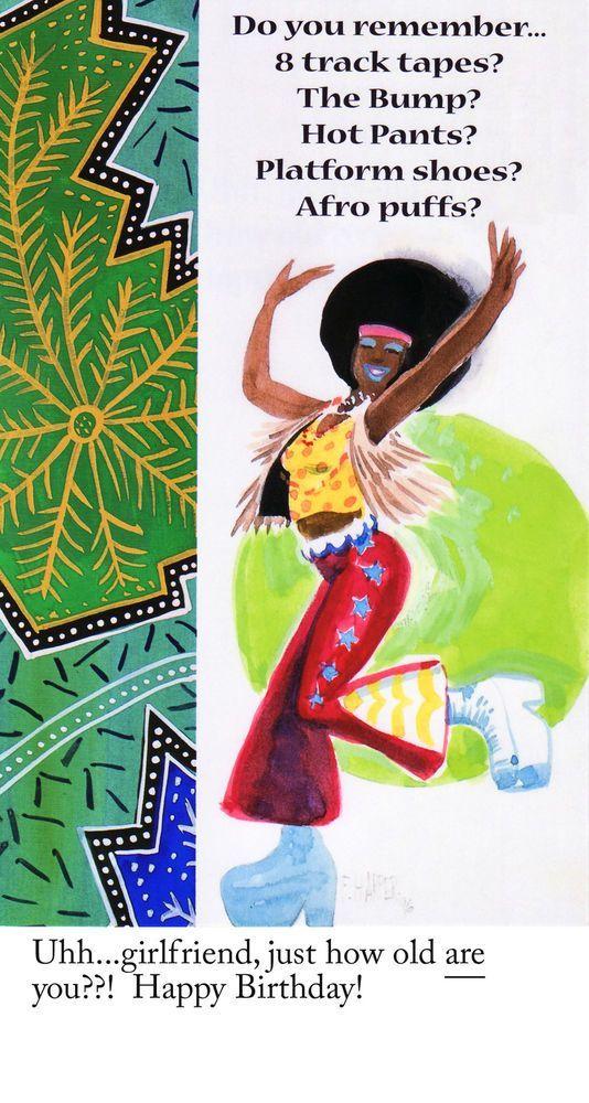 African American Greeting Cards Birthday Pkg B