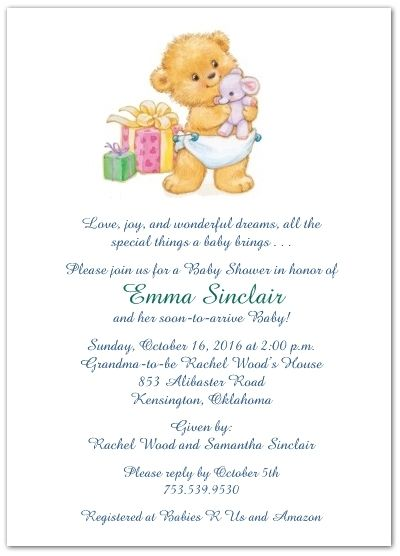 Cute Wording For Baby Shower Invites | Baby Shower Invitation Sayings