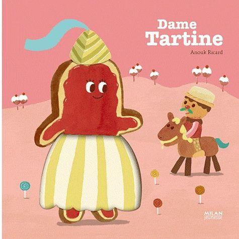 Il était une dame Tartine dans un beau palais de beurre frais, les murailles étaient de farine, le parquet de croquet...  Ainsi débute le récit gourmand de Dame Tartine autant de prétextes pour découvrir et toucher des matières étonnantes. Les matières de cet ouvrage : - la robe de dame Tartine - le palais de beurre - la confiture de dame Tartine - les souliers de miel de monsieur Gimblette - La robe en abricot de la belle Charlotte - des bonbons - la sorcière en forme d'aubergine - les murs…