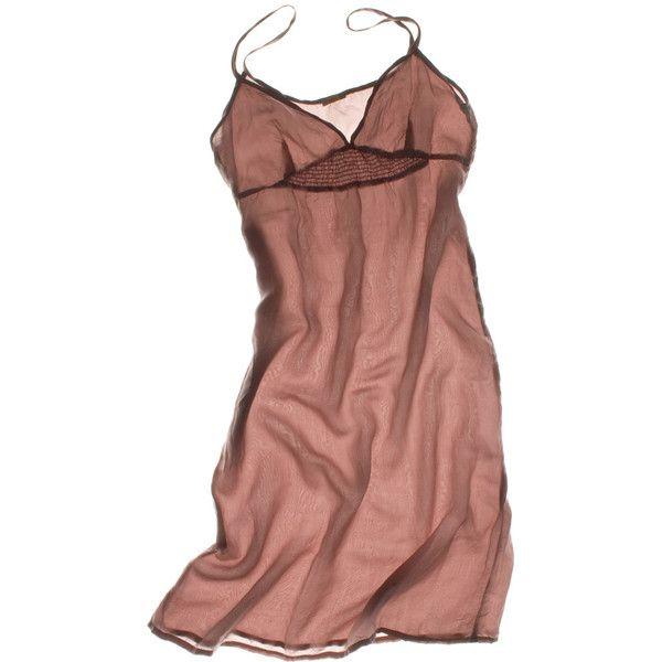 Musi Silk Slip Dress ($19) ❤ liked on Polyvore featuring dresses, lingerie, underwear, slip, silk slip and matta