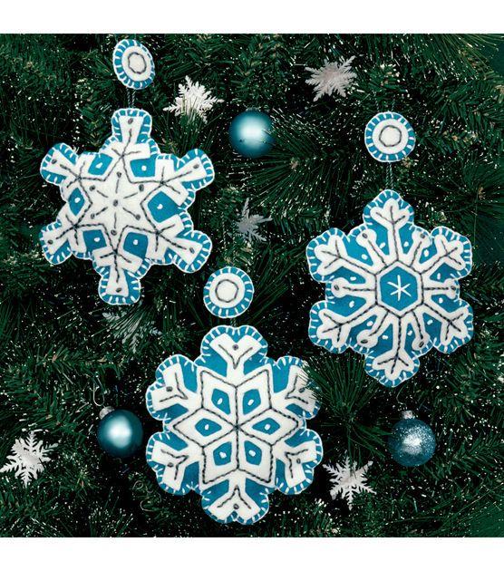 Dimensions Felt Applique Kit Flurries Ornaments