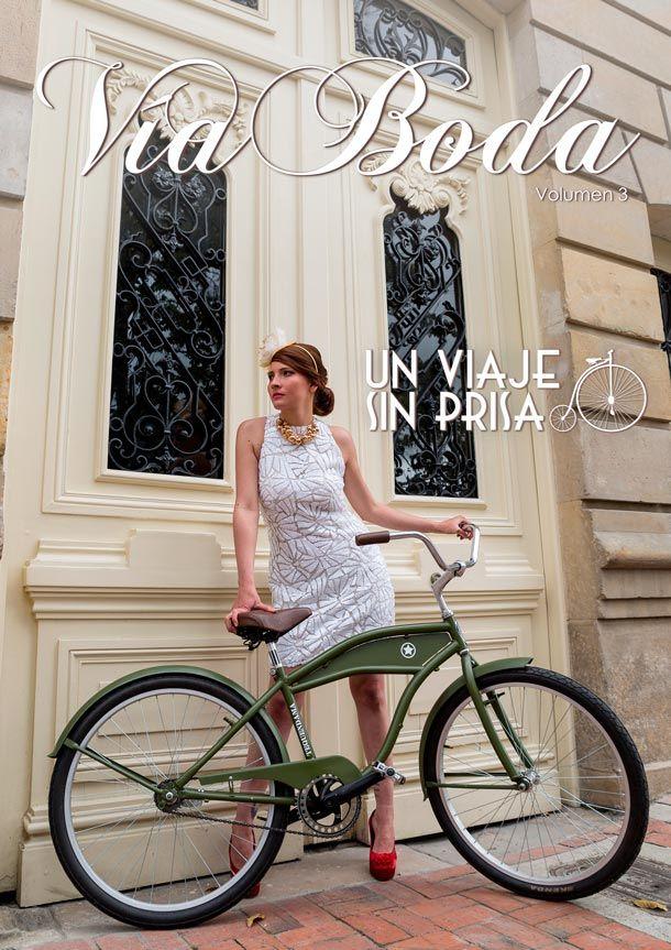 Editorial de boda. Un Viaje Sin Prisa -- Bridal Editorial -- Fotografía: Dreambox Fotografía y Video -- Vestido de Novia: Pronovias -- Bicicleta: Cletta -- Accesorios: Shabby Chic by Liu