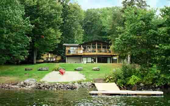 Cardinal Pines Cottage on Halls Lake  This five bedroom, three bathroom luxury cottage will sleep ten guests comfortably, great set up for a large family or two families on holidays.  http://www.loraleacountryinnresort.com/private-cottages/cardinal-pines-cottage.html