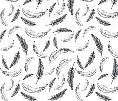 feather fabric by e-lkh on Spoonflower - custom fabric