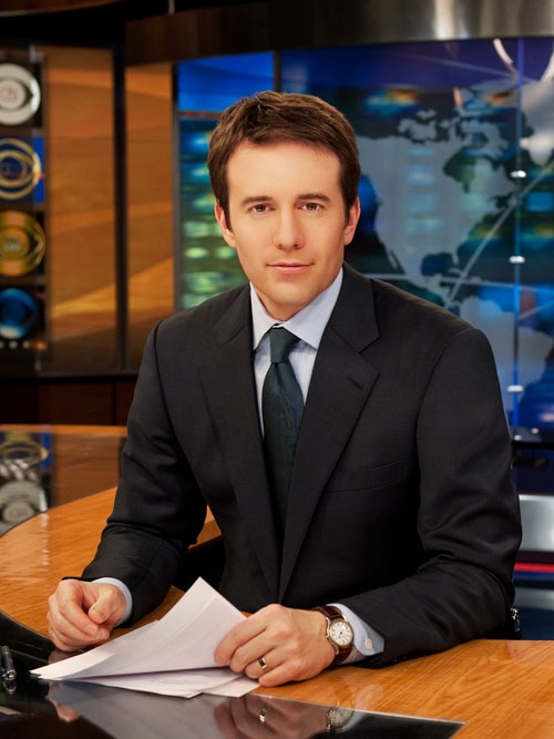 Jeff Glor (CBS This Morning Saturday) - blame it on HD TV when it comes to charming news anchors.