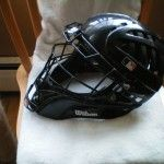 Wilson Shock FX 2.0 Steel Umpire Helmet (#A5591) Side