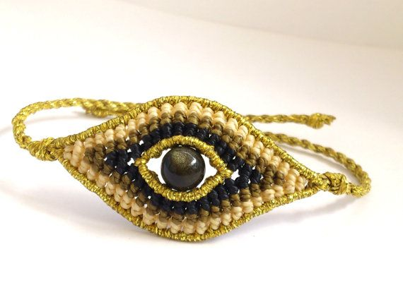Evil Eye Macrame Bracelet,Micromacrame Jewerly