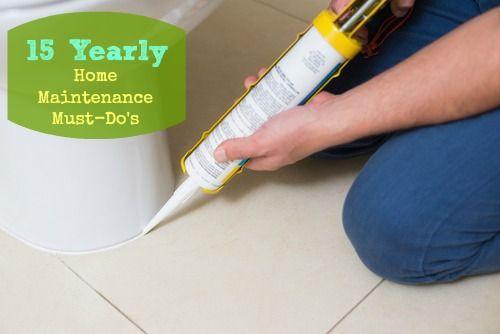 15 Must-Do Yearly Home Maintenance Tasks. Mentions contacting professionals but I think much could be done without hiring assistance.