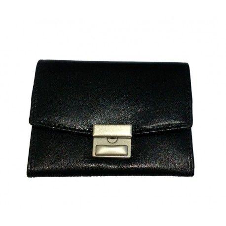 Lækker Stephanie gammeldags herre pung i sort skind - 79513