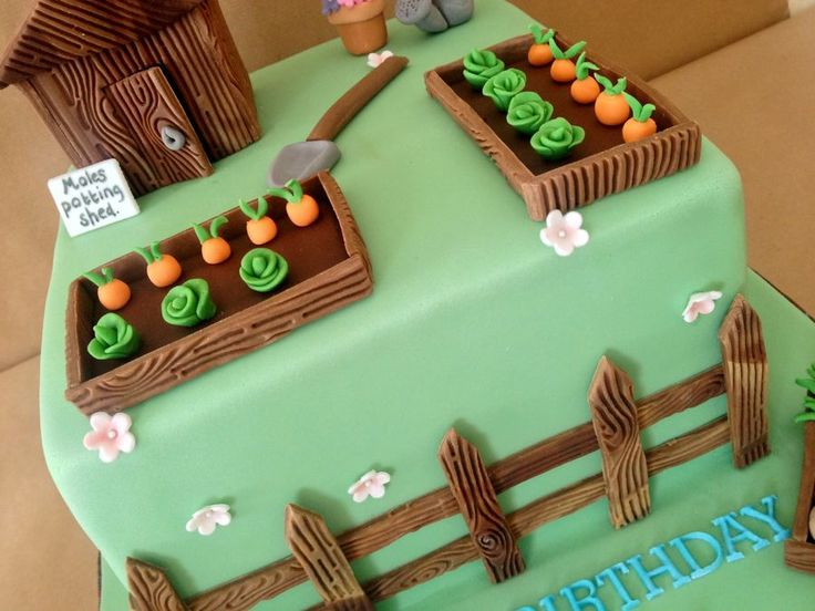 Garden Decoration For Cake : Best 25+ Garden theme cake ideas on Pinterest