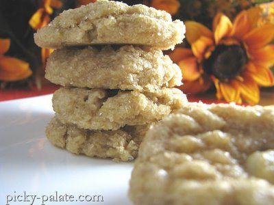 Apple Dippin' Peanut Butter Cookies