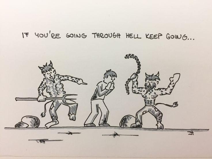 If you're going through hell keep going... #jh #motivation #ifyouaregoingthroughhellkeepgoing #ifyouaregoingthroughhell #keepgoing #dontstop #dontgiveup #moveforward #feelthepain #itwillbebetter #trustyourself