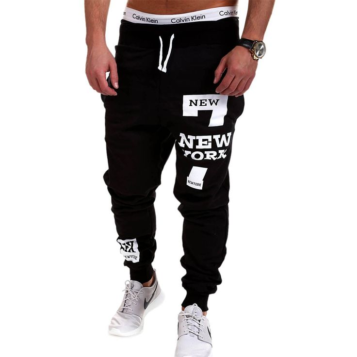 Mens Joggers 2017 Brand Male Trousers Men Pants Casual  Pants Sweatpants Jogger Black XXXL KDBB * Click the VISIT button to enter the website