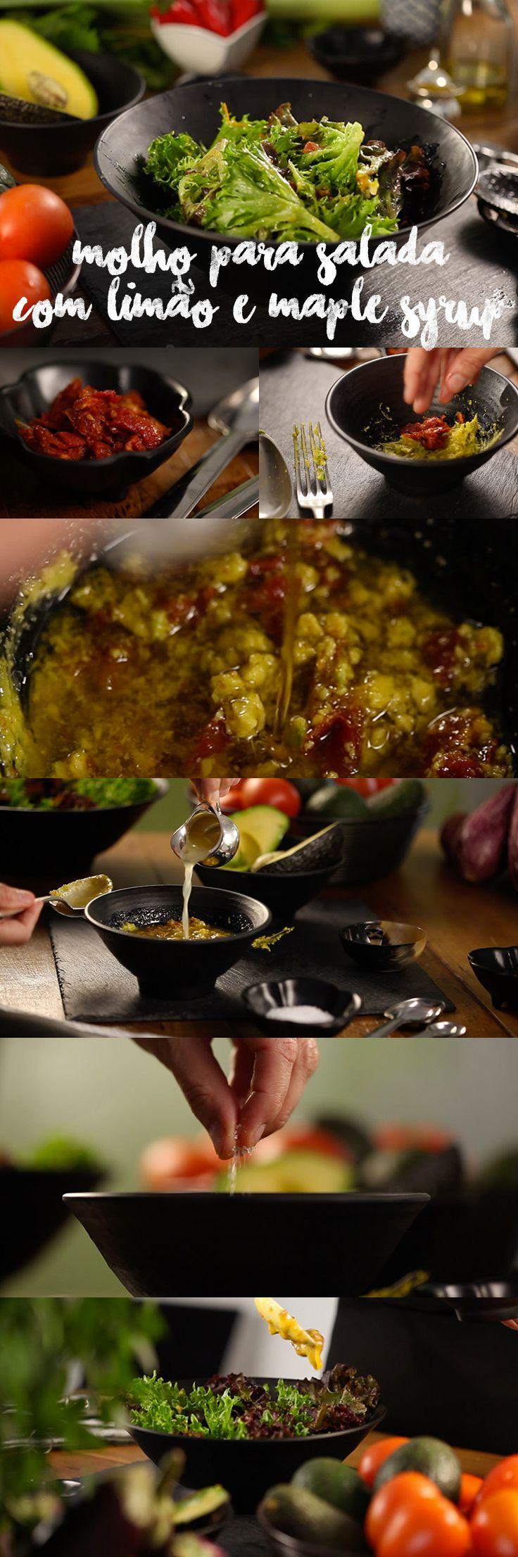 """Combinações """"sweet and sour"""". Afinal, salada sem um bom tempero não dá, não é mesmo? Veja mais receitas em www.myyellowpages.com.br"""