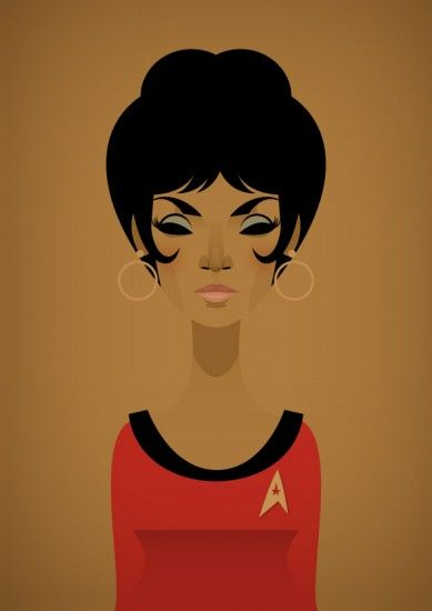 Uhura! The first lady of so many good things for TV, sci fi and girl power. Plus Nichelle Nichols looks super good with a few years on her.