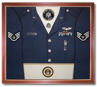 how to make a shadow box for military awards